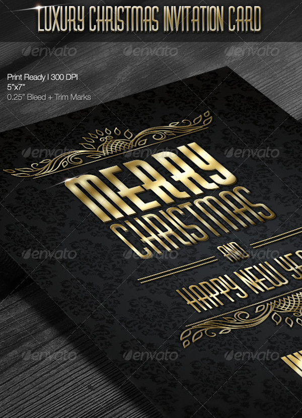 Free PSD Christmas Invitation Card Designs FreeCreatives