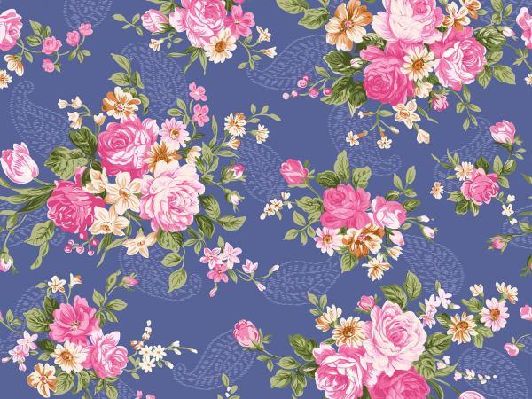 18 Vintage Floral Wallpapers Floral Patterns