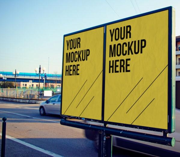 Download Free Advertising Mockup
