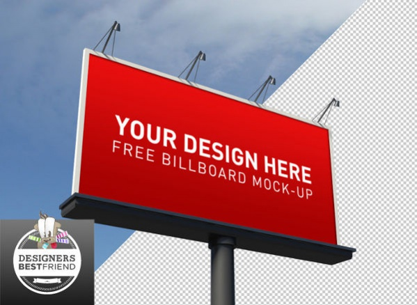 Free Billboard Ad Mockup PSD