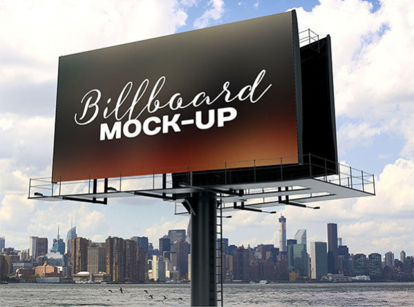 Free PSD Billboard Outdoor Advertising Mockup