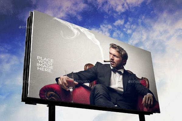 Fully Editable Outdoor Billboard Mockup