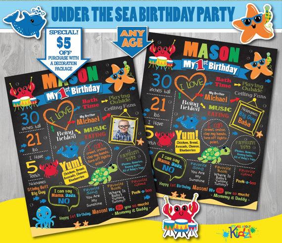 Free Printable Invitations Under Sea