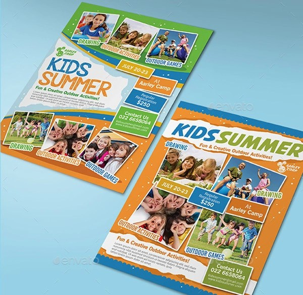 summer tutoring flyer template editable