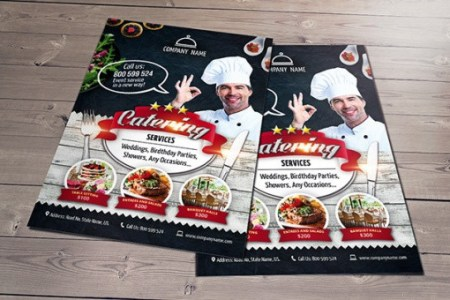 24  Catering Flyers   PSD  AI  Illustrator Download img