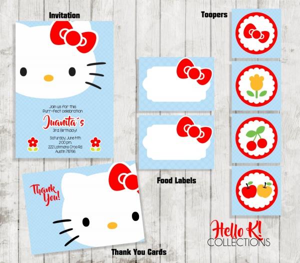 creative hello kitty invitation designs