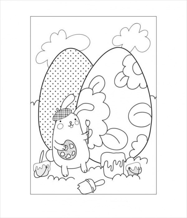 Free 18 Easter Coloring Pages In Ai Pdf