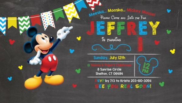 mickey mouse invitation designs in psd
