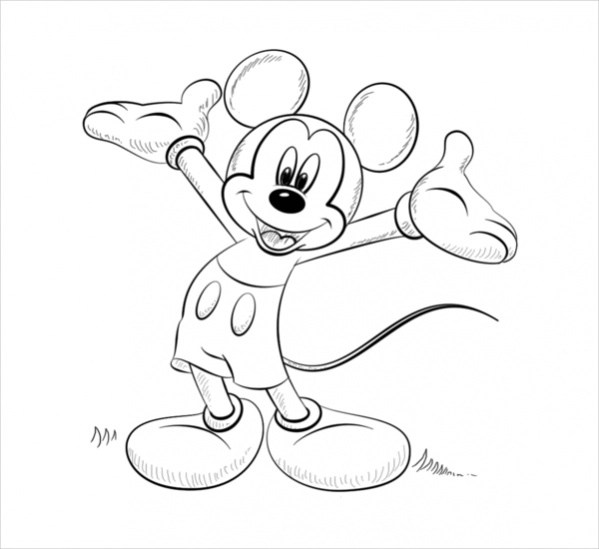 Free 15 Mickey Mouse Coloring Pages In Ai