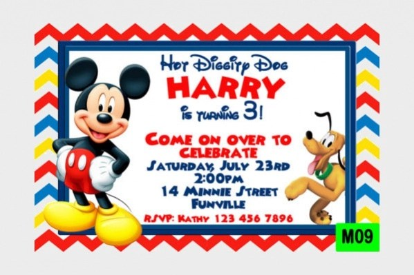 free 7 mickey mouse birthday