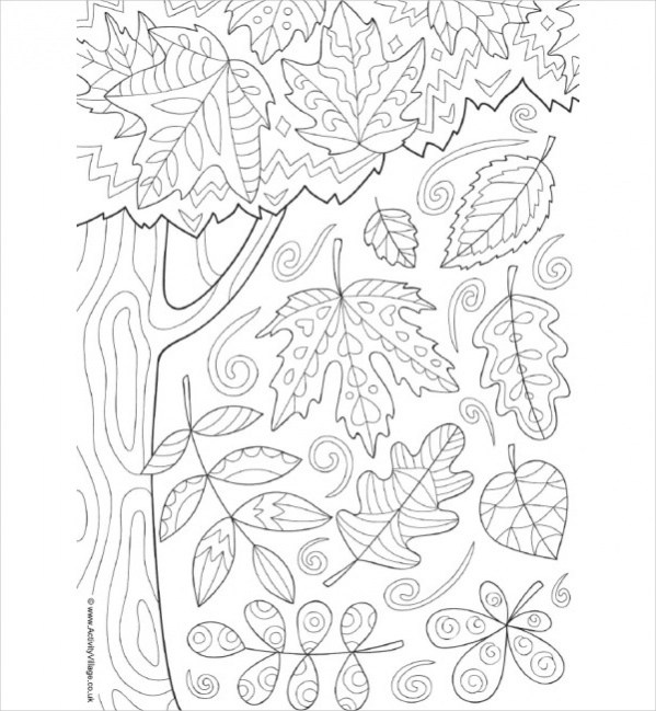 Free 15 Fall Coloring Pages In Vector Eps Ai