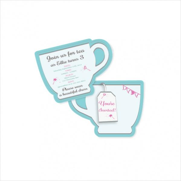 tea party invitation designs in ms word