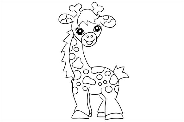 Free 7 Giraffe Coloring Pages In Ai