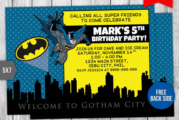 batman invitation designs in vector eps