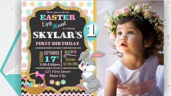 bunny invitation designs in vector eps