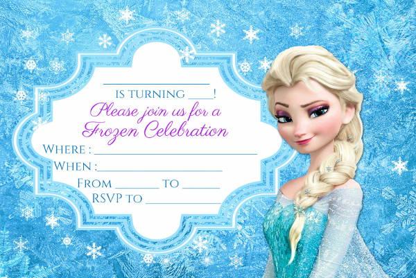 cool frozen invitation designs in psd