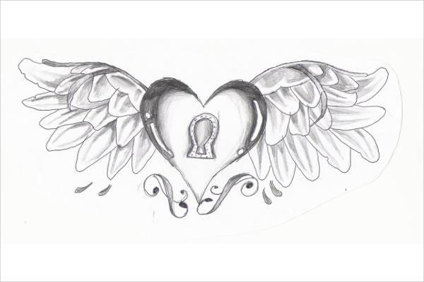 12+ Heart Drawings