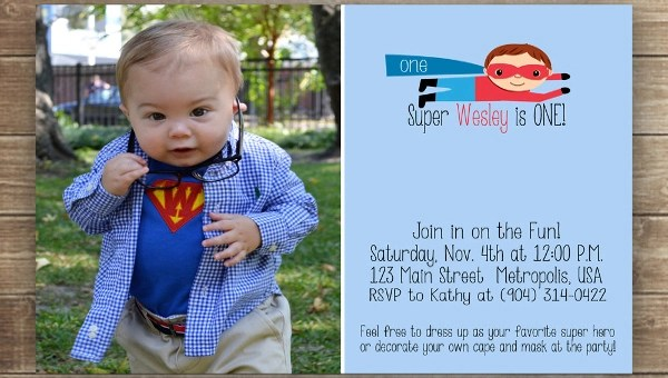 superhero birthday invitation designs