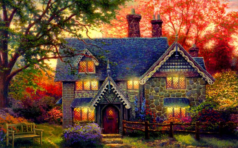 HD Gingerbread Cottage Wallpaper Download Free 85972