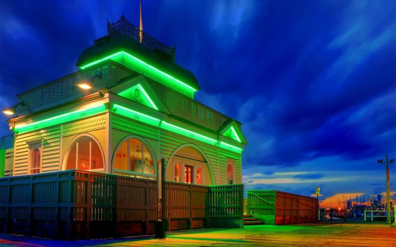 HD Lighted House Hdr Wallpaper Download Free 123318