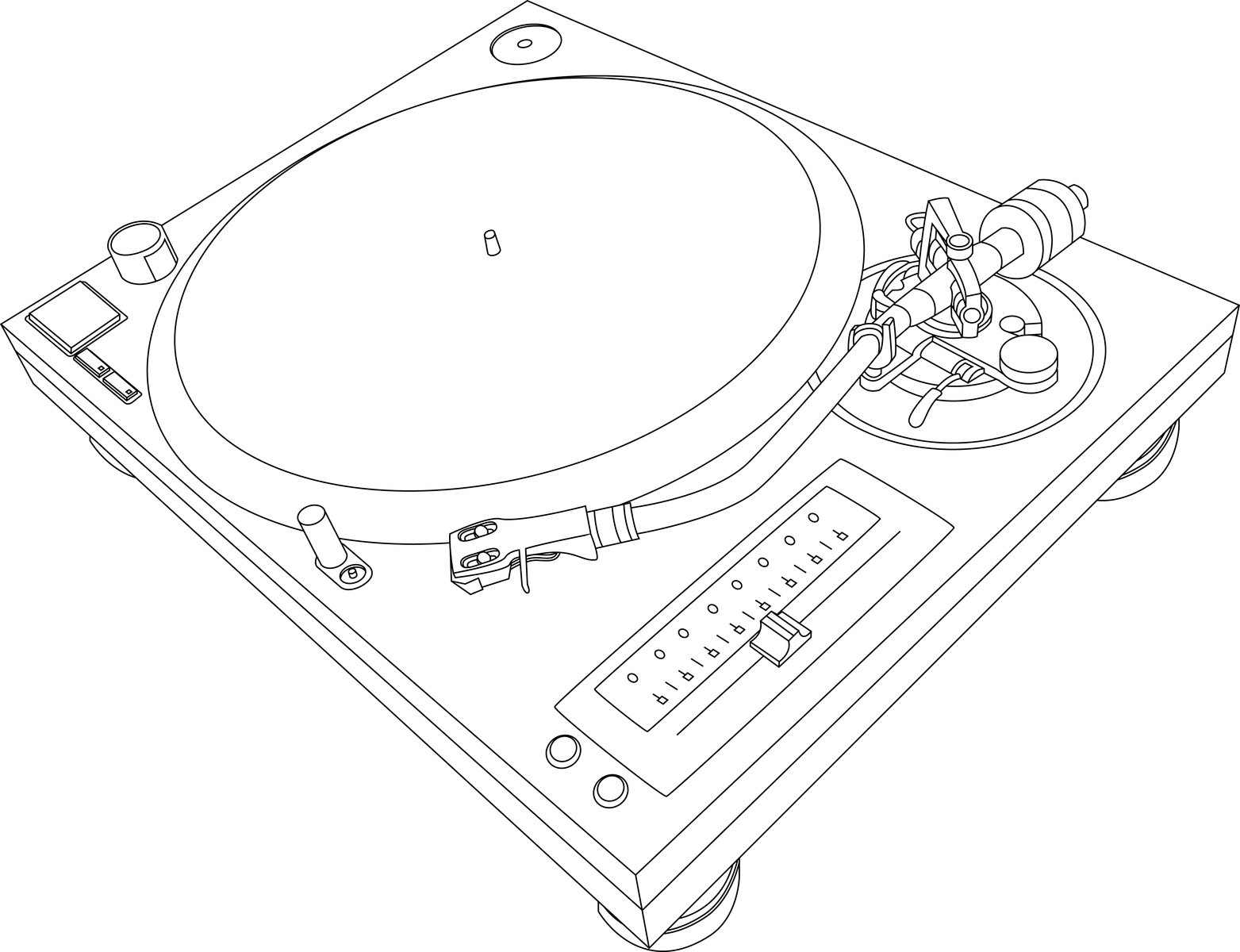 Free Turntable Illustration Stock Photo