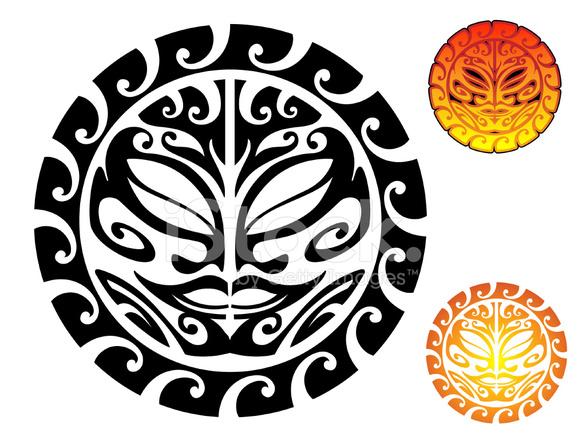Tribal Tattoo Sun Stock Vector
