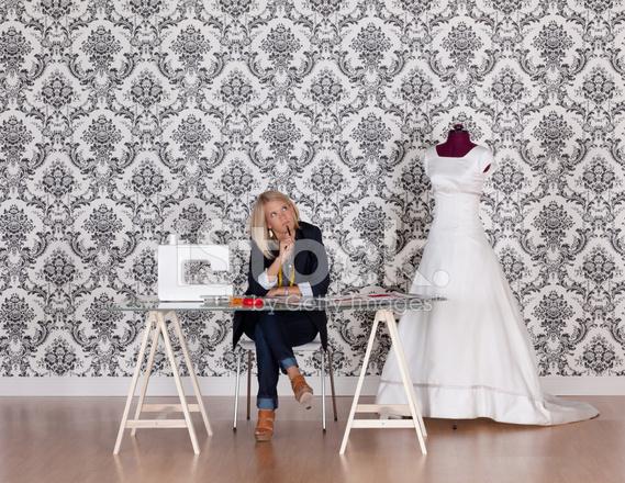 在她的工作室時裝設計師 照片素材 - FreeImages.com