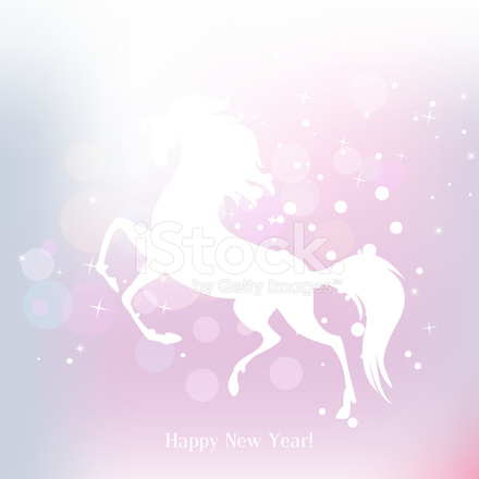 New Year Symbol of Horse Illustration  Vector Stock Vector     New Year symbol of horse   Illustration  vector