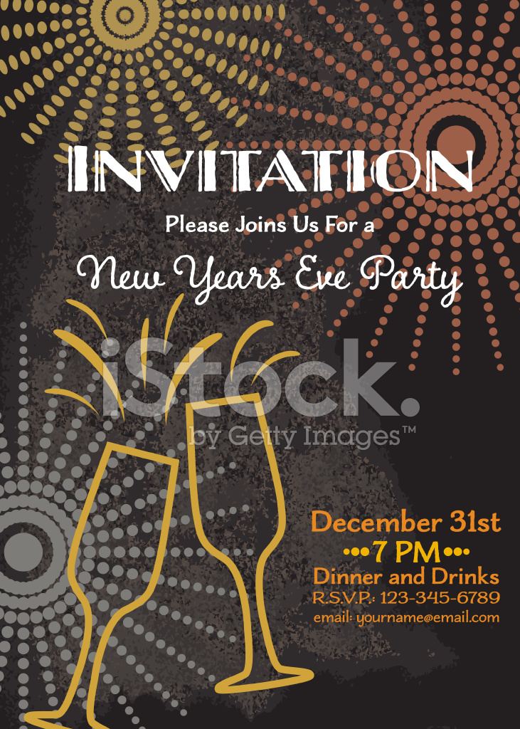 New Year s Eve Party Invitation Template Stock Vector   FreeImages com New Year s Eve Party Invitation Template