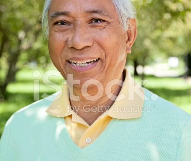 Happy Mature Asian Man