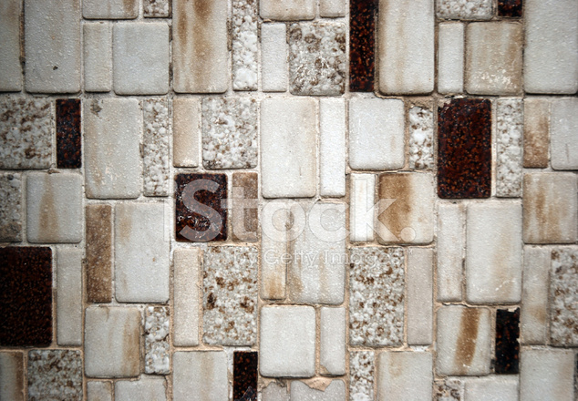 brown and white tile mosaic texture