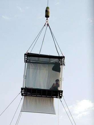 Free David Blaine In His Glass Box Stock Photo