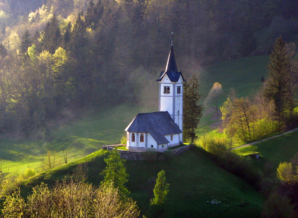 Church on a hill