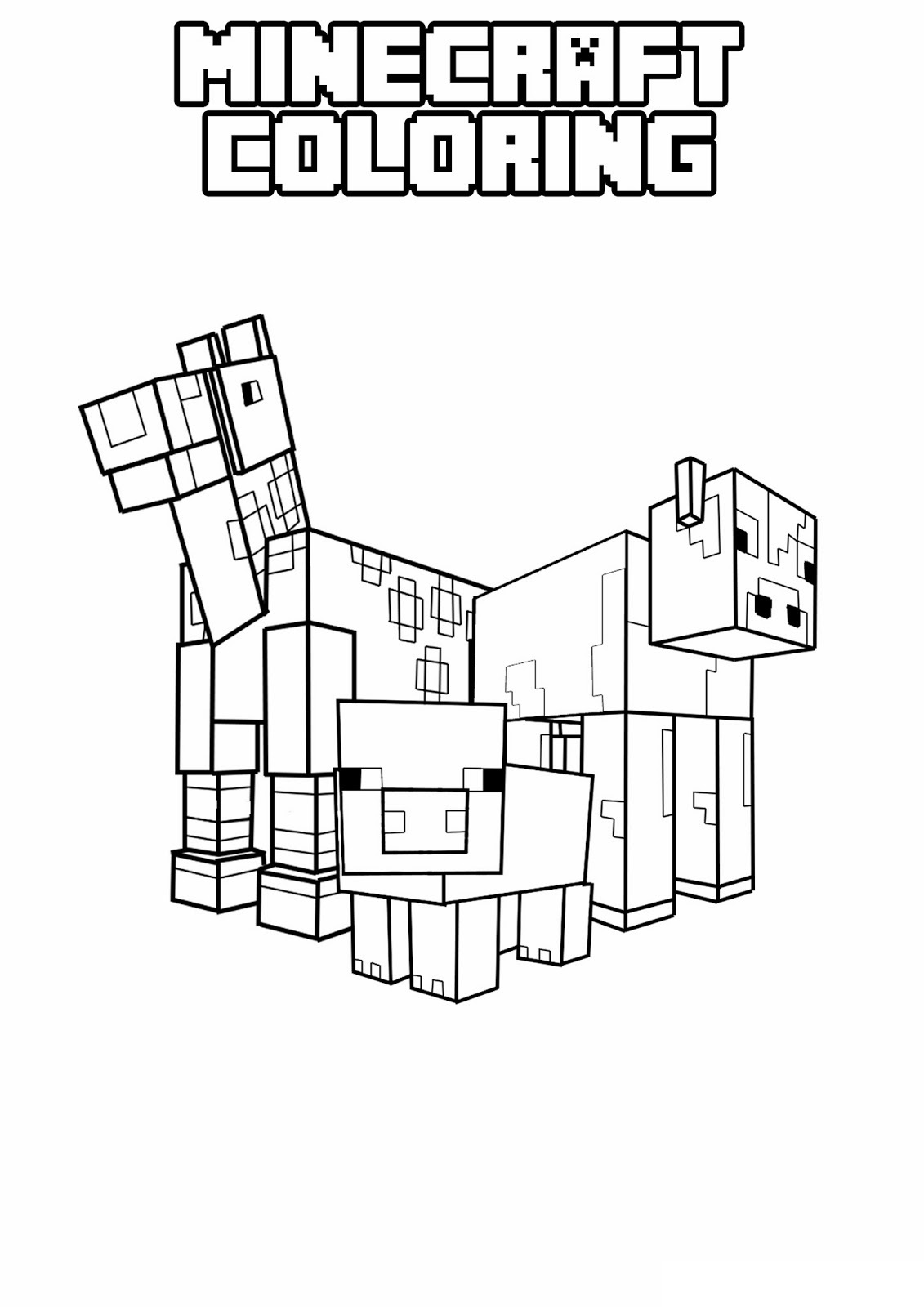 Minecraft 1 Printable Coloring Pages