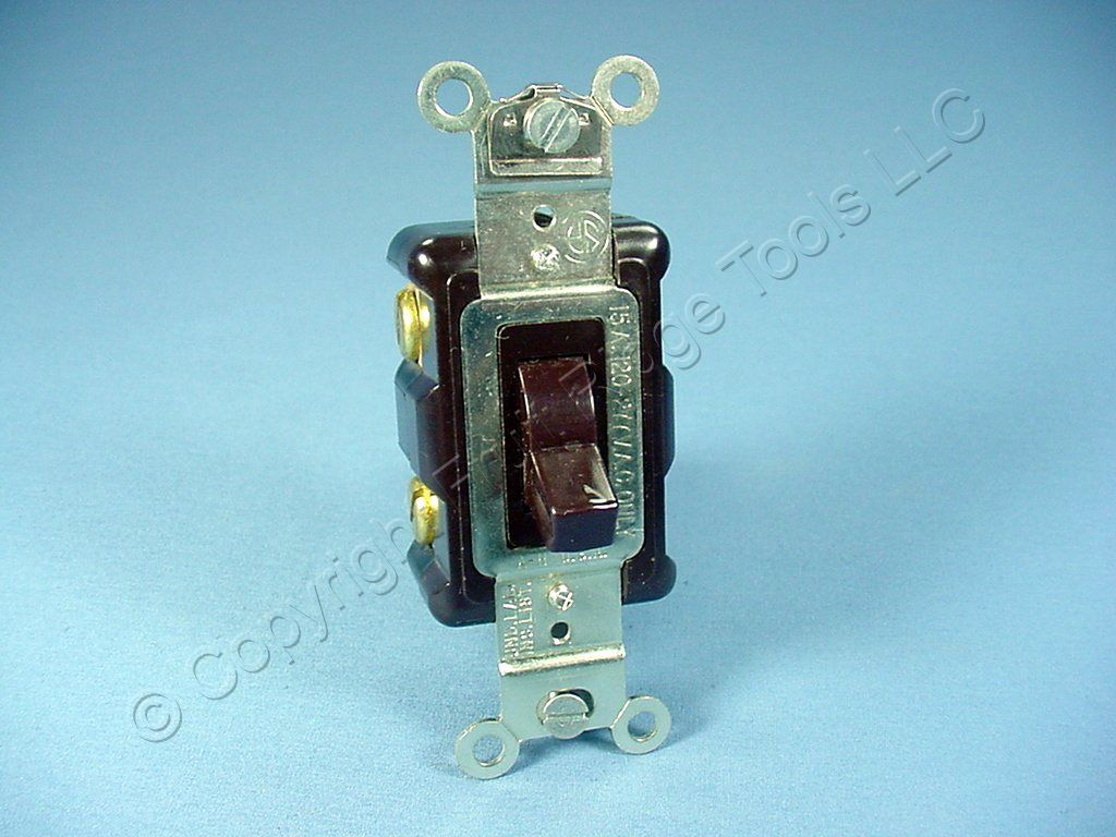 Arrow Hart Brown Spec Grade Toggle Wall Light Switch
