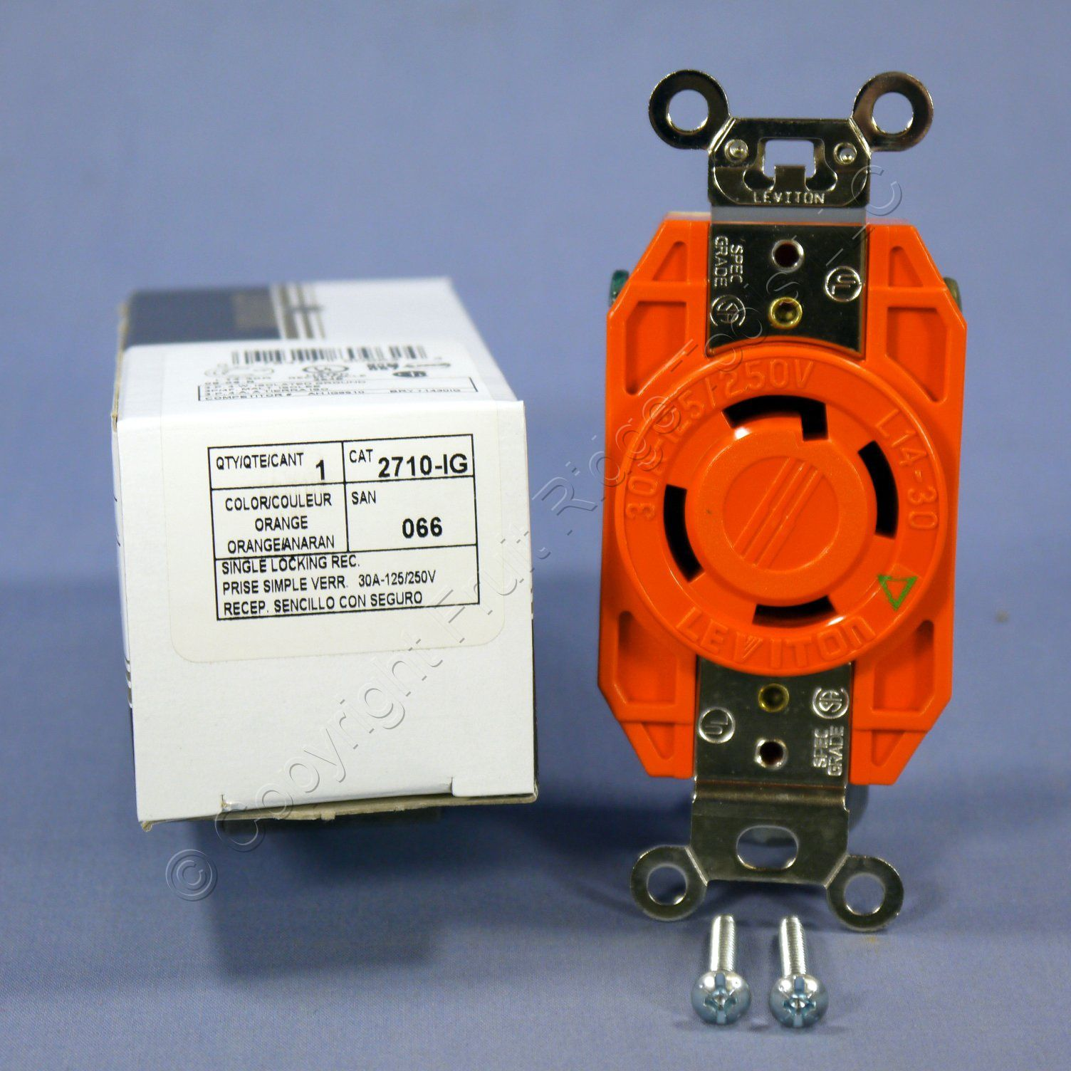 Leviton L14 30 Iso Ground Locking Receptacle Outlet 125