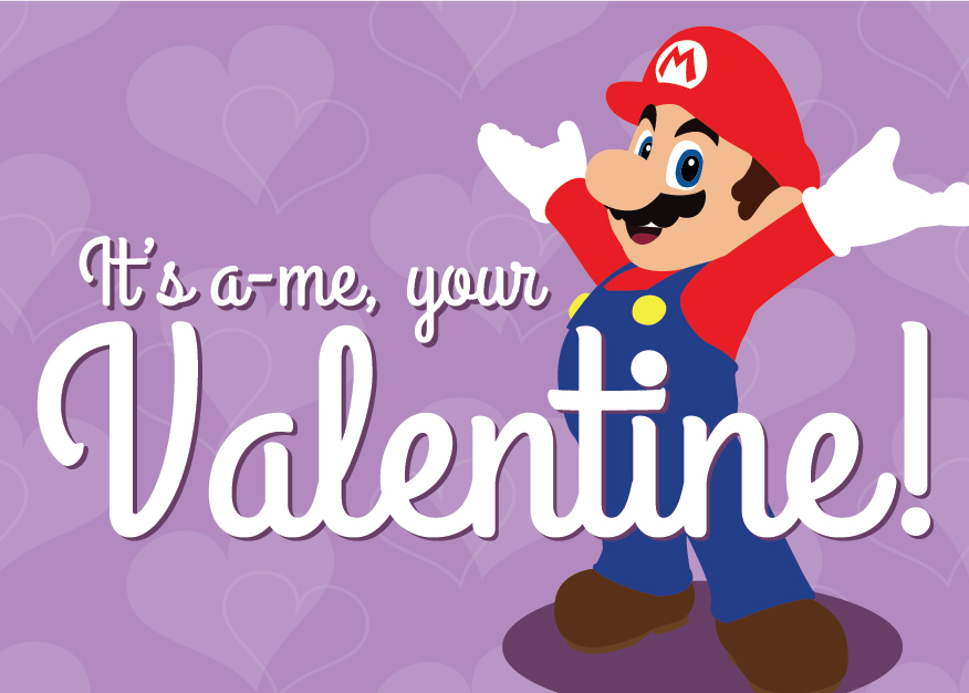 Video Game Heart Containers 19 Printable Valentines For