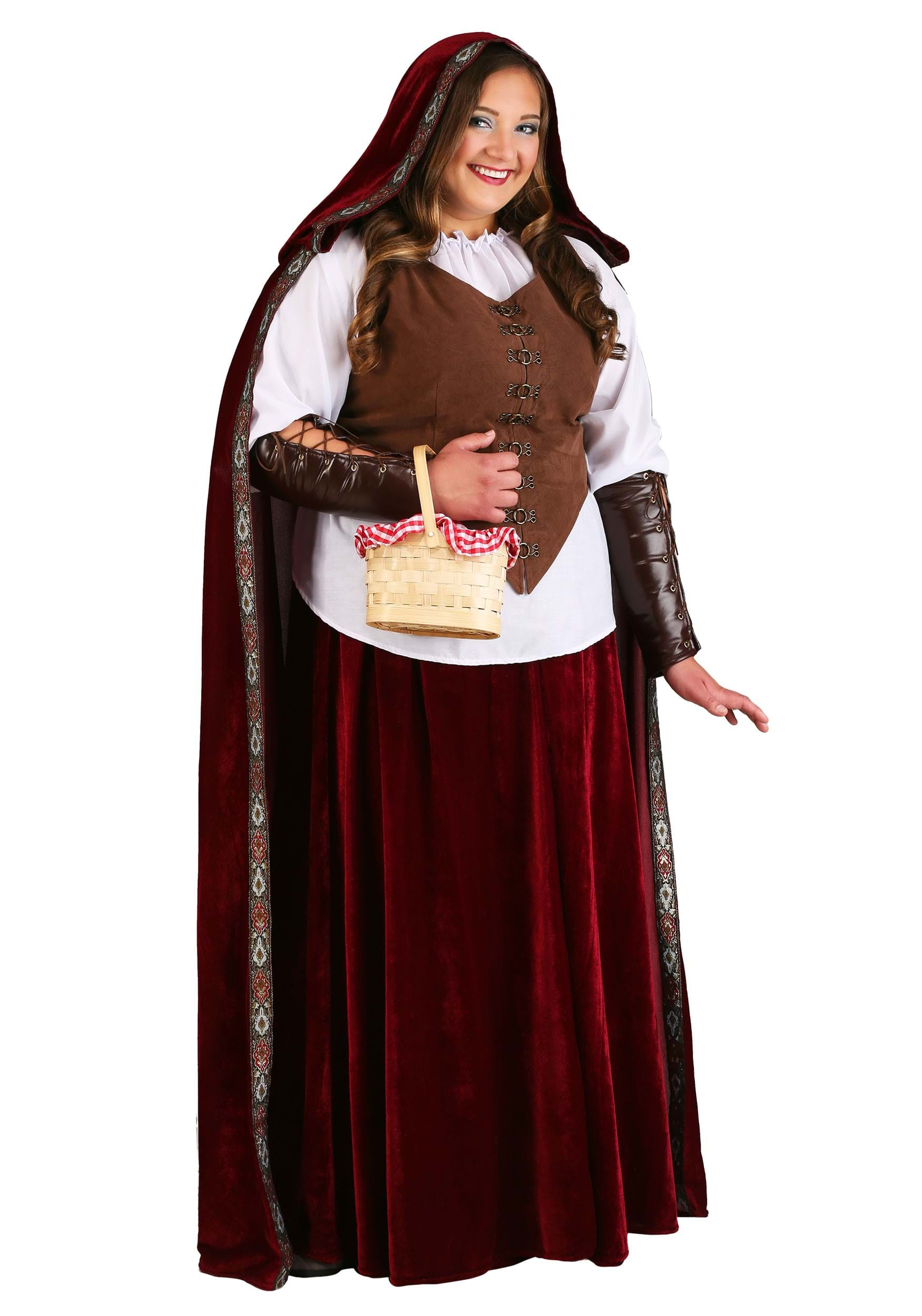 Deluxe Red Riding Hood Costume For Plus Size