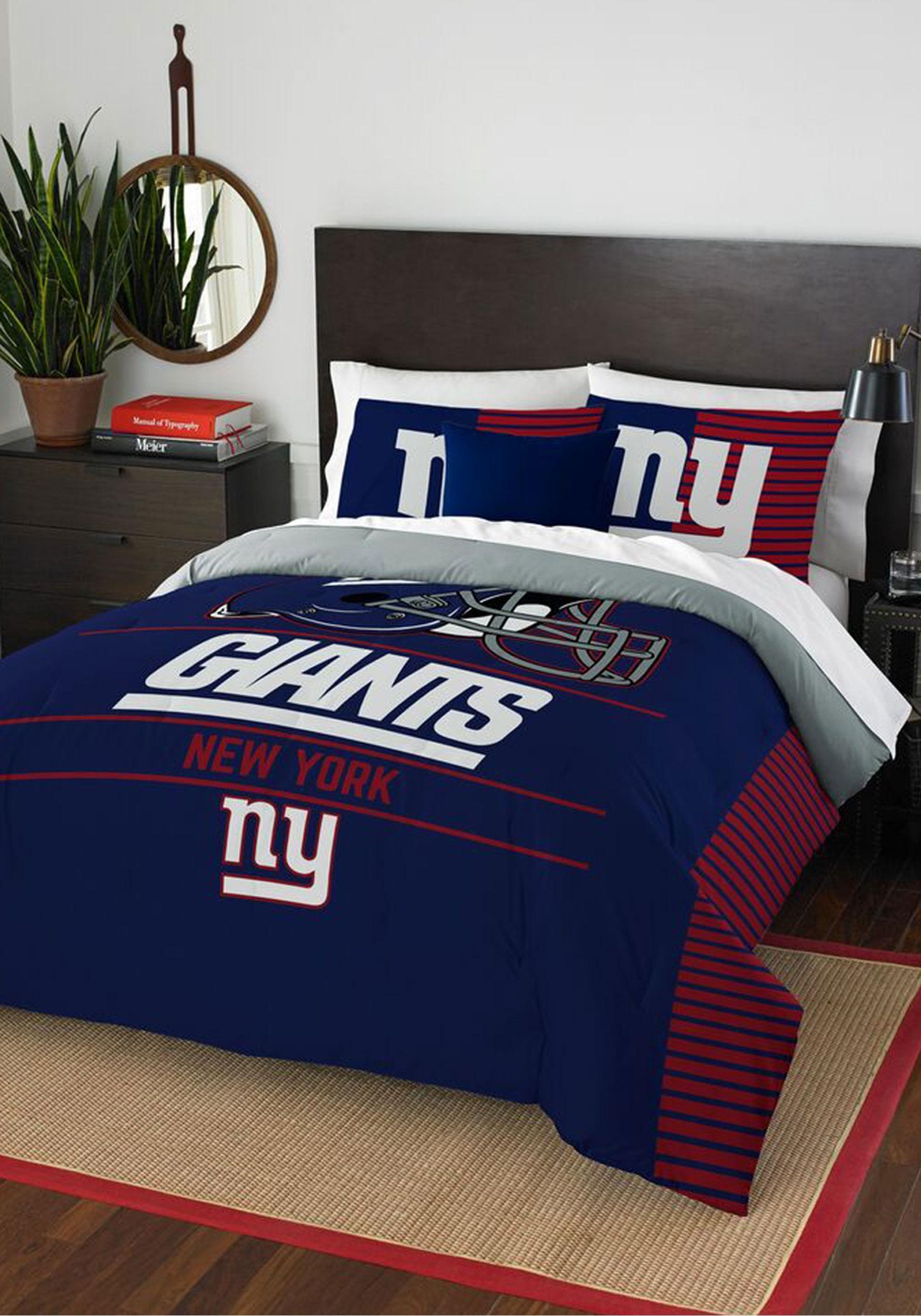 new york giants full queen bedding