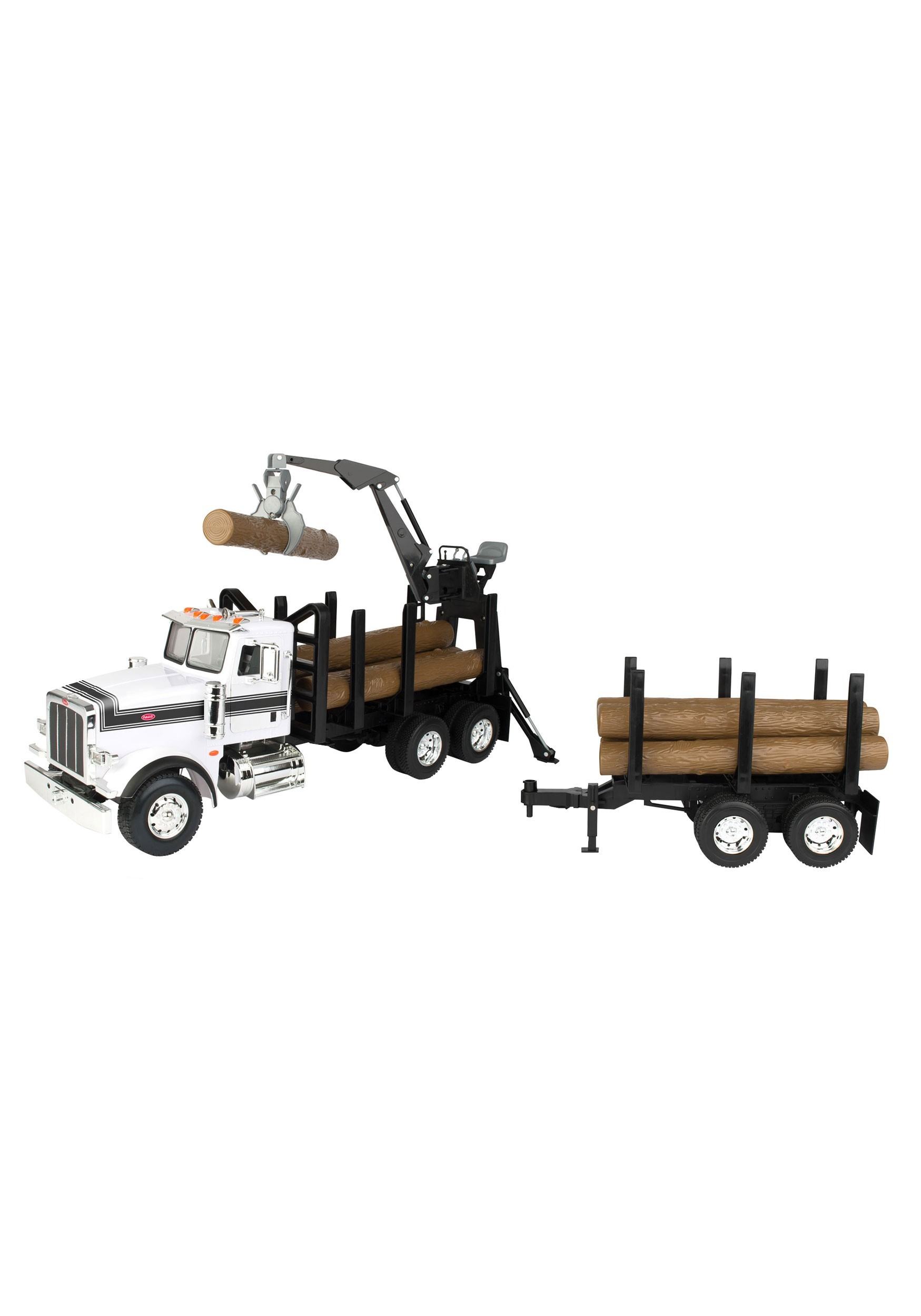 Peterbilt 1 16 Model 367 Log Truck With Prop Trailer And Logs