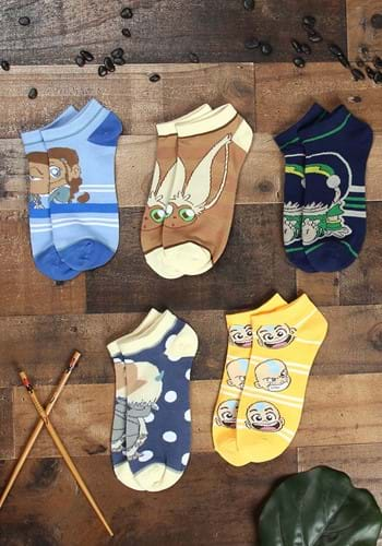 Avatar The Last Airbender 5 Pair Ankle Socks