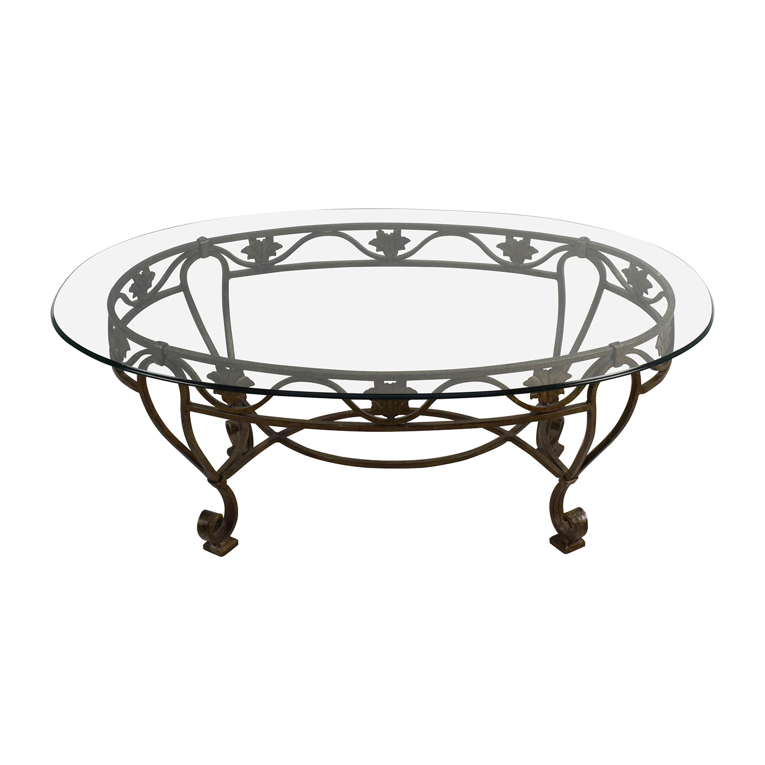Wood And Iron End Tables