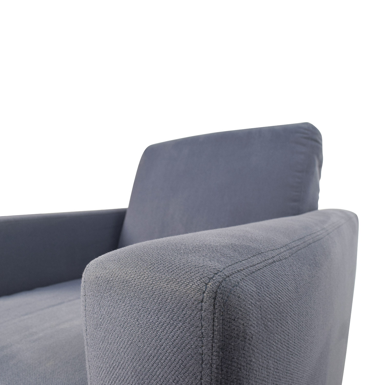 68 Off Blue Accent Single Seat Cushion Chair Chairs