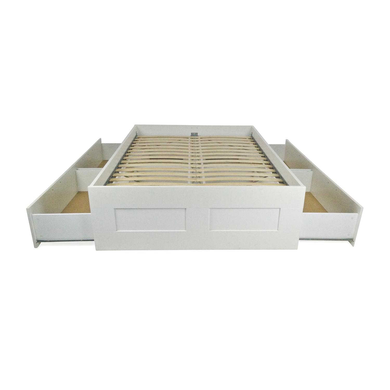 49 OFF IKEA IKEA Brimnes Full Bed Frame Beds