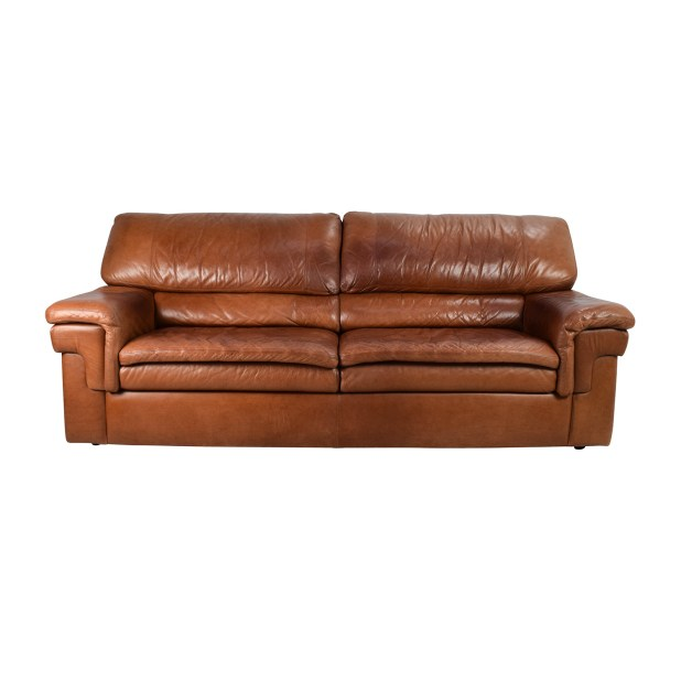 Second Hand Leather Sofas Gosport: Second Hand Brown Leather Sofa