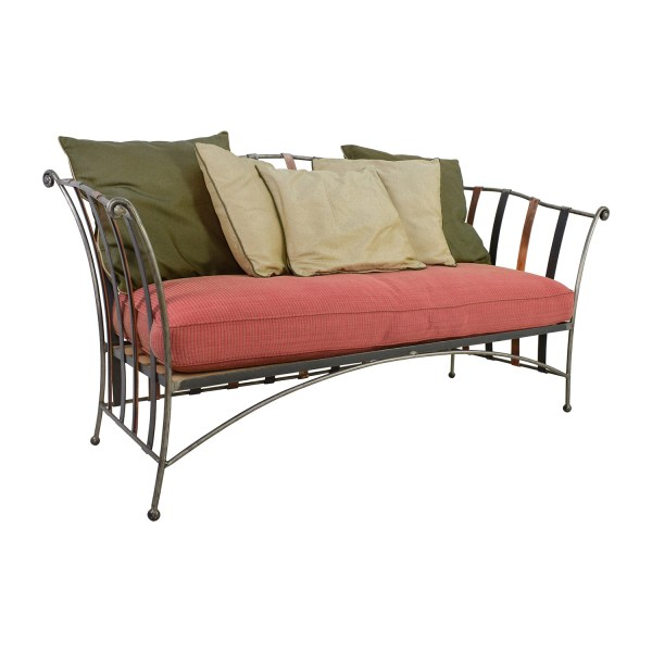 90  OFF   Custom Made Wrought Iron Daybed Sofa With Silk Pillows   Sofas     Custom Made Wrought Iron Daybed Sofa With Silk Pillows