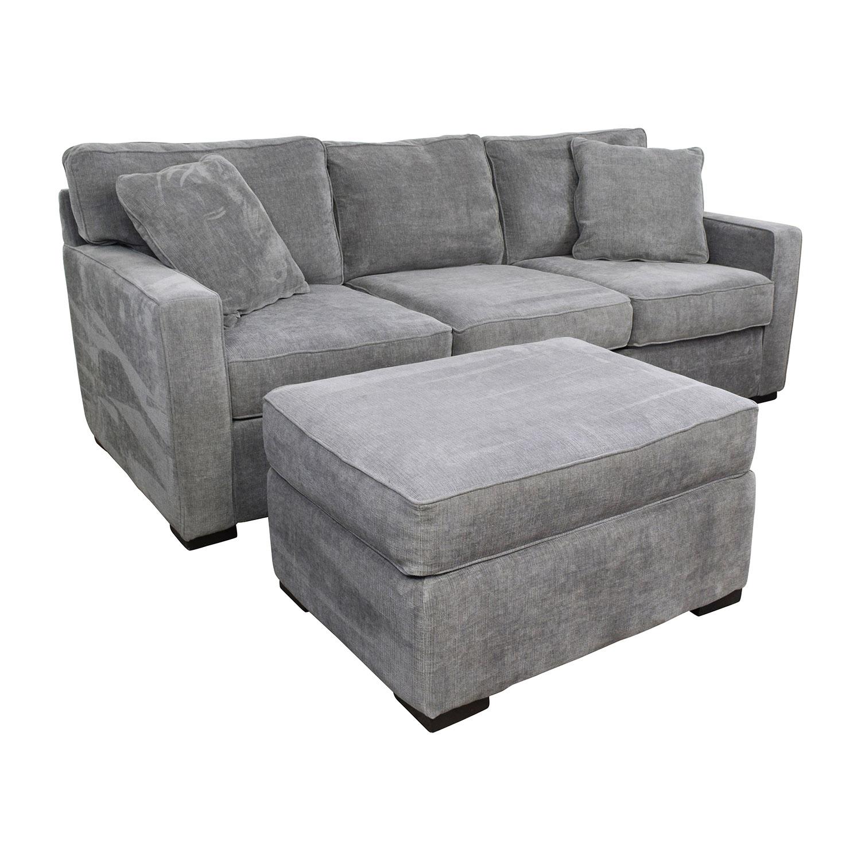58 Off Macy S Radley Grey Sofa And Ottoman Sofas