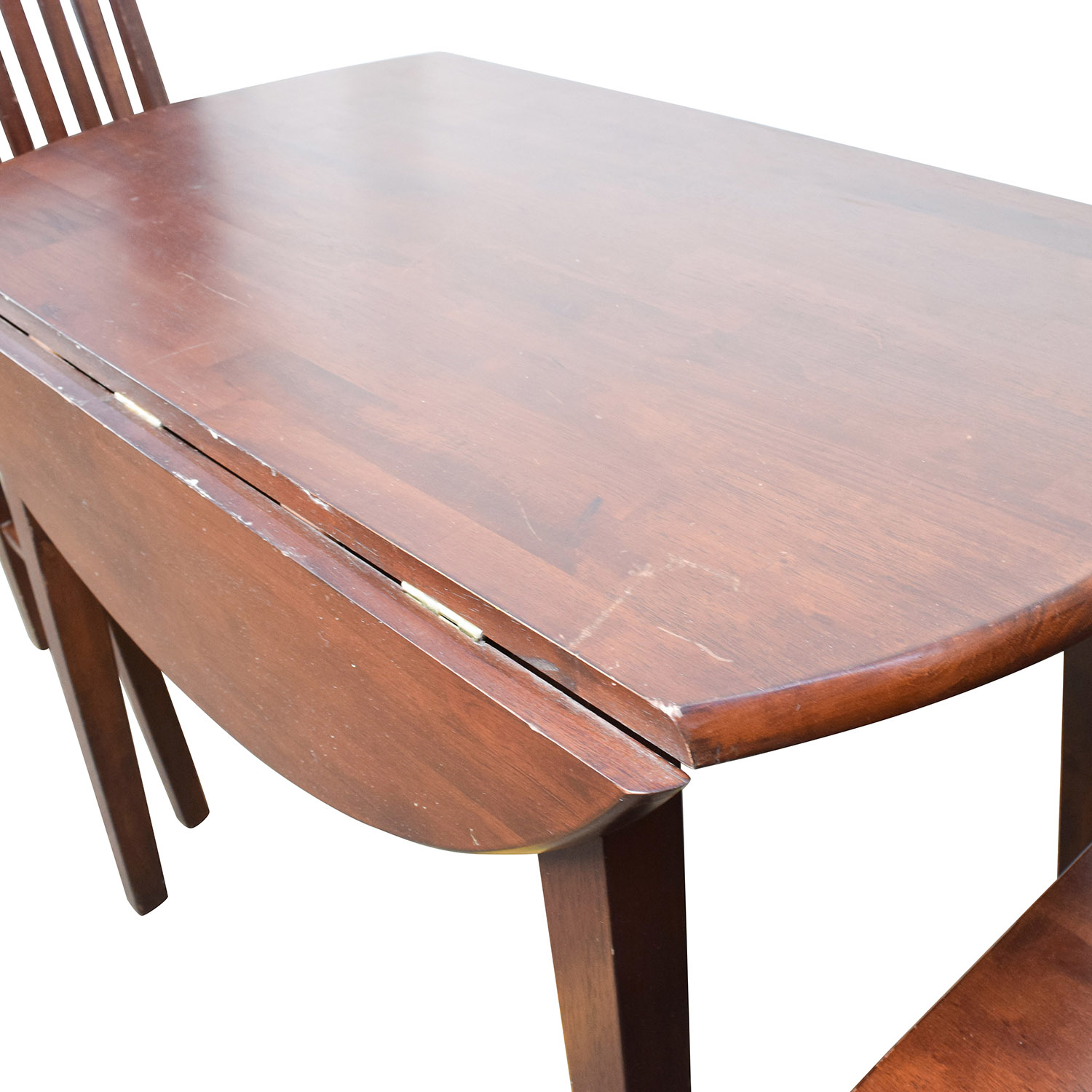 60 dining table with folding sides and chairs on Circular Folding Dining Table id=43658