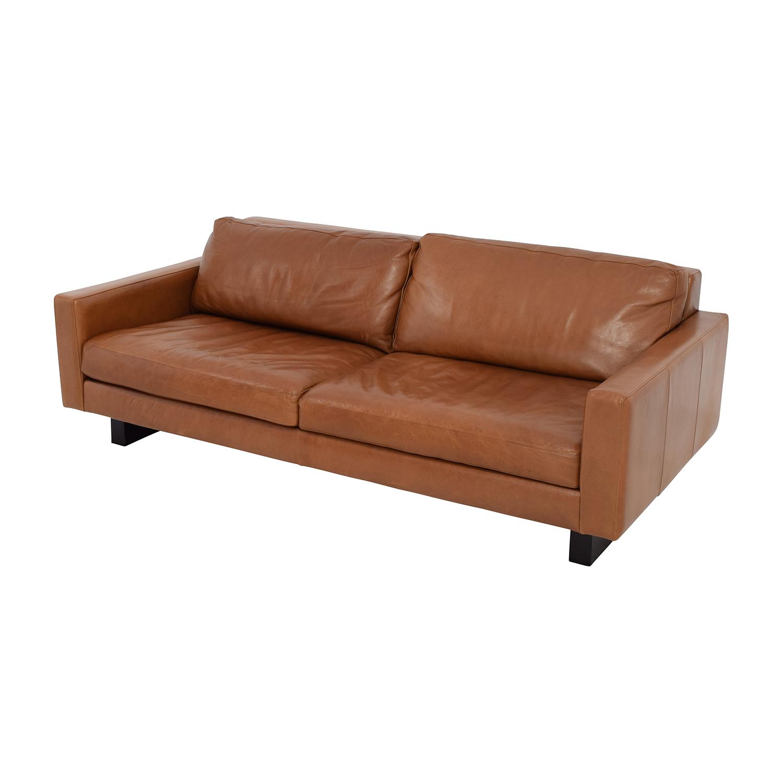 66 Off Room Board 79 Hess Leather Sofa Sofas