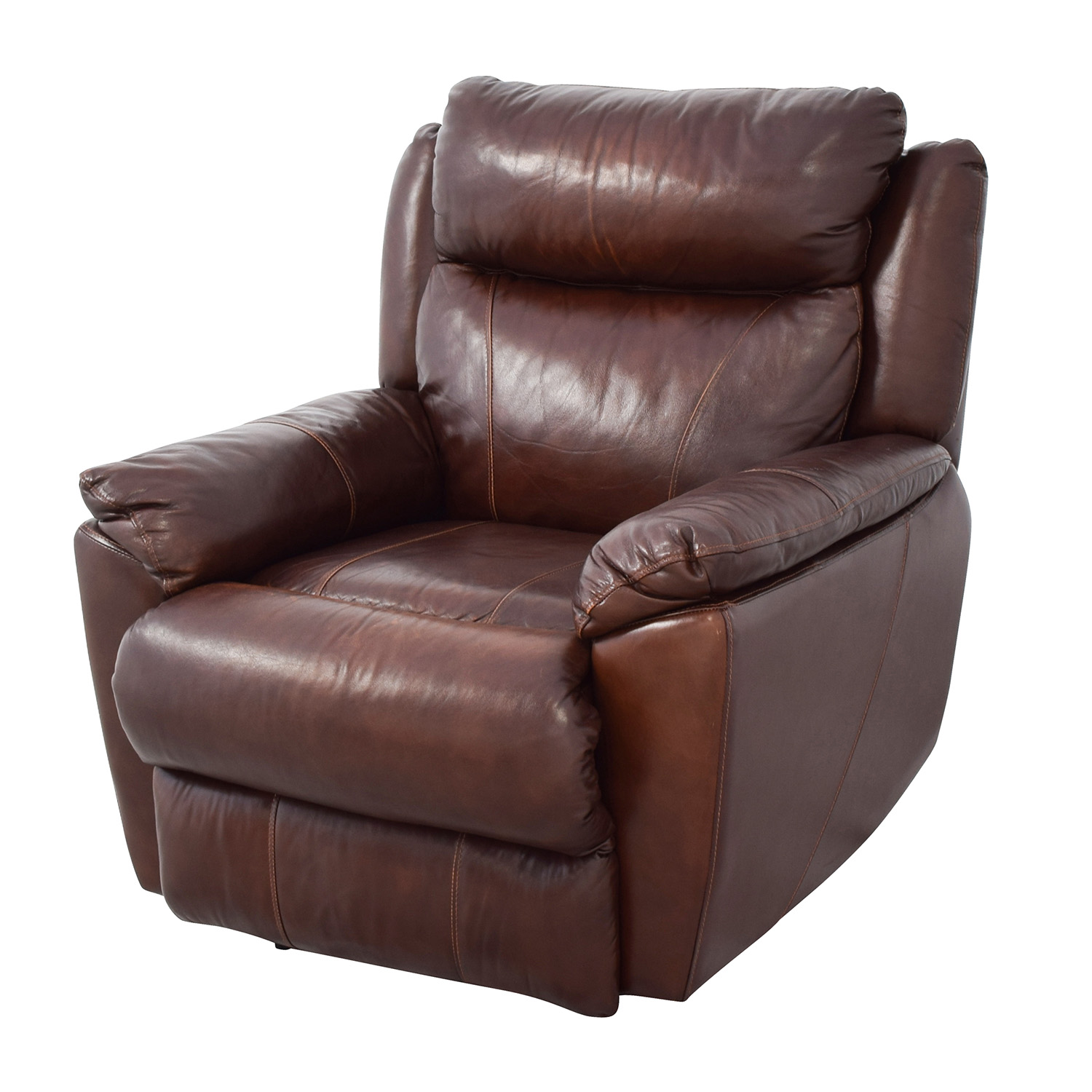 61 OFF Macys Macys Brown Leather Power Recliner Chairs